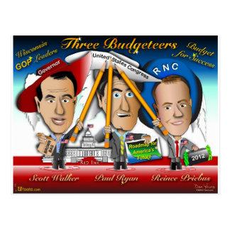 Carte Postale Trois Budgeteers du Wisconsin