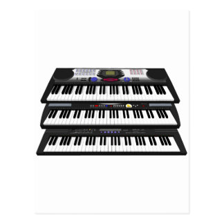 Carte Postale Trois claviers modernes : Synthétiseurs :