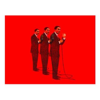 Carte Postale Trois costumes - inauguration d'Obama