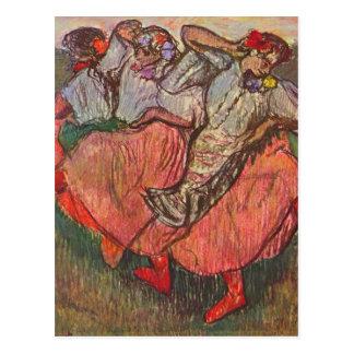 Carte Postale Trois danseurs russes par Edgar Degas