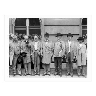 Carte Postale Trois Generals confédéré, 1917