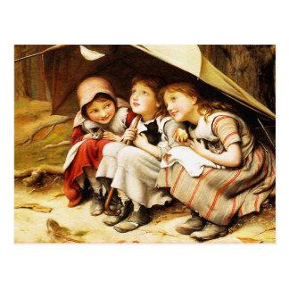 Carte postale :  Trois petits chatons