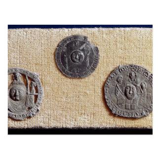 Carte Postale Trois plaques de pèlerinage des d'Amiens de St