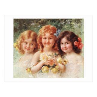 Carte Postale Trois soeurs - Émile Vernon
