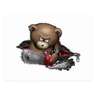Carte Postale Tronçonneuse folle d'ours