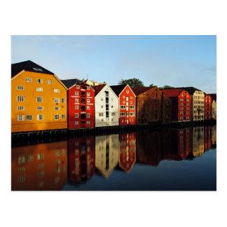 Carte Postale Trondheim en Norvège