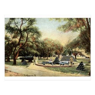 Carte Postale Trophées de guerre, cru 1914 de Fort Monroe la