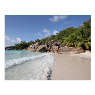Carte Postale Tropical Beach, Seychelles, Indian Ocean