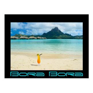 Carte postale tropicale de cocktail de Bora Bora