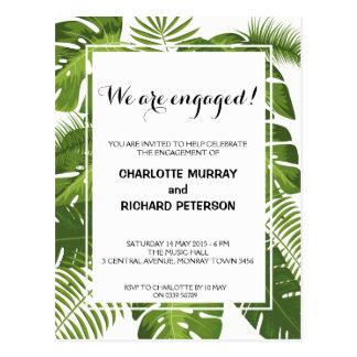 Carte postale tropicale d'invitation de partie de