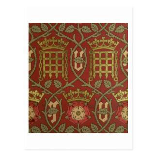 """Carte Postale """"Tudor s'est levé"""", papier peint de reproduction"""