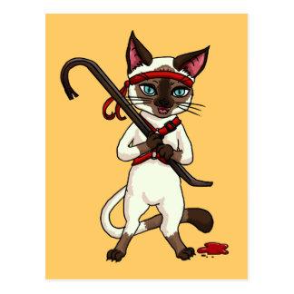 Carte Postale Tueur de zombi de chat de Tonkinese