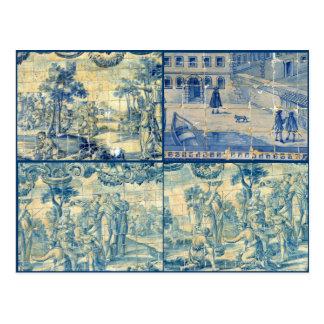Carte Postale Tuiles bleues