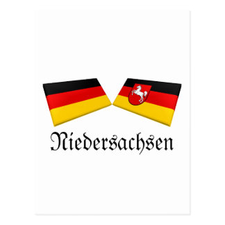 Carte Postale Tuiles de drapeau de Basse $saxe, Allemagne