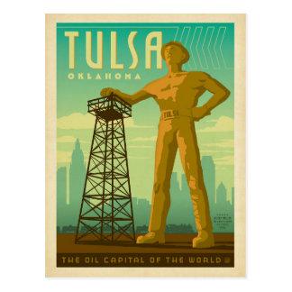 Carte Postale Tulsa, OK - capital d'huile