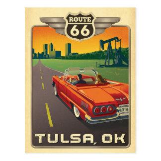 Carte Postale Tulsa, OK - itinéraire 66