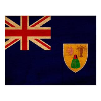 Carte Postale Turcs et drapeau de la Caïques