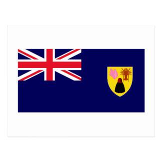 Carte Postale Turcs et drapeau d'îles de la Caïques