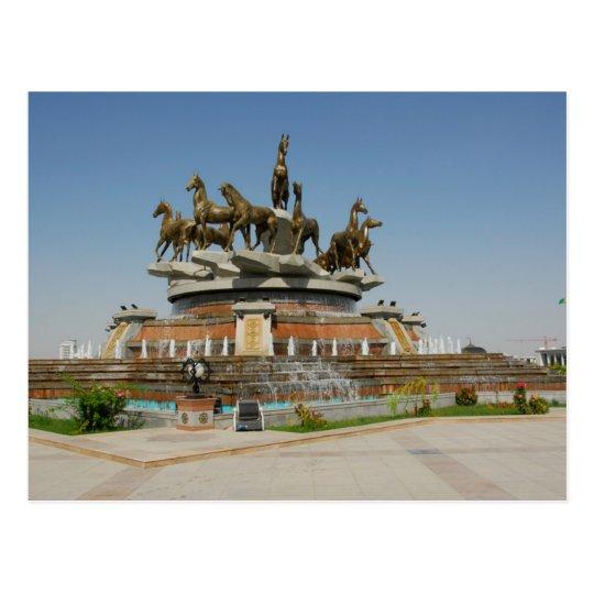 Carte Postale Turkmenistan - Ashgabat - Horses Fountain