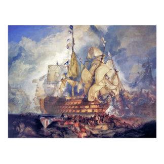 Carte Postale Turner, la bataille de trafalgar (1822)