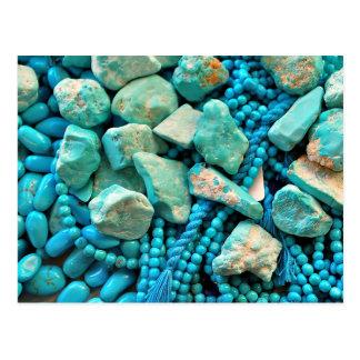 Carte Postale Turquoise de beauté de sommeil