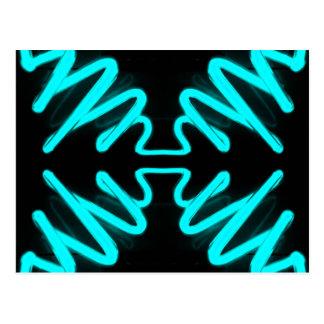 Carte Postale Turquoise de néon d'art et de conception de