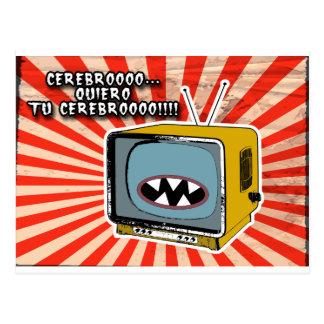 Carte Postale tv-zombie