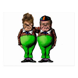 Carte Postale Tweedles Palin et Bush