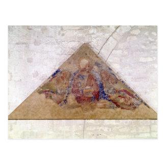 Carte Postale Tympan dépeignant la bénédiction de sauveur, 1341