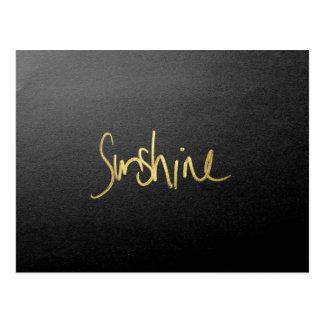 """Carte Postale Typographie de """"soleil"""" en or peint par Faux"""