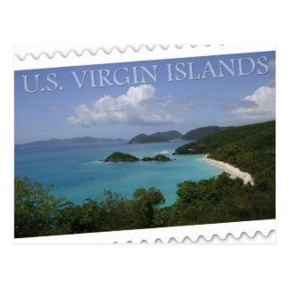 Carte Postale U.S. Les Îles Vierges - baie du tronc de St John