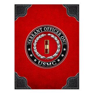Carte Postale U.S. Marines : Adjudant un (usmc WO-1) [3D]