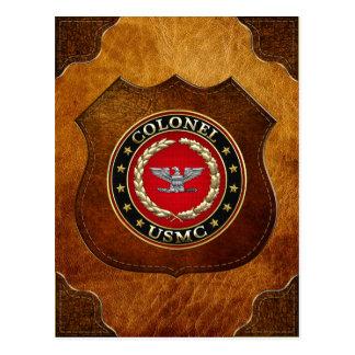 Carte Postale U.S. Marines : Colonel (Col d'usmc) [3D]
