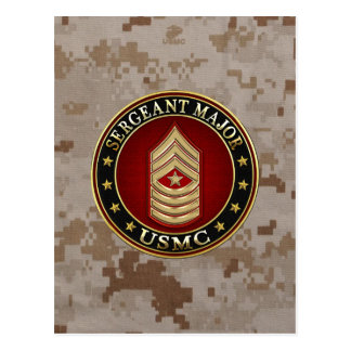 Carte Postale U.S. Marines : Commandant de sergent (usmc SgtMaj)