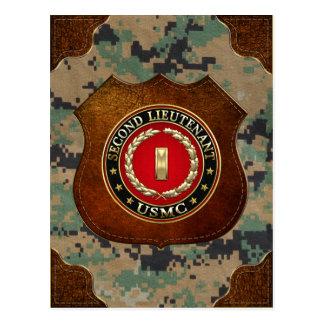 Carte Postale U.S. Marines : Deuxième lieutenant (usmc 2ndLt)