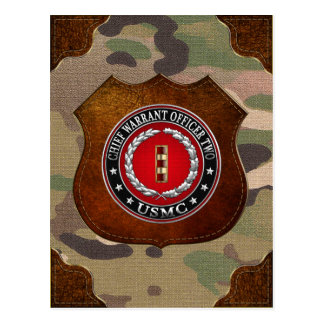 Carte Postale U.S. Marines : Garantie en chef deux (usmc CWO-2)