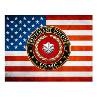 Carte Postale U.S. Marines : Lieutenant-colonel (usmc LtCol)