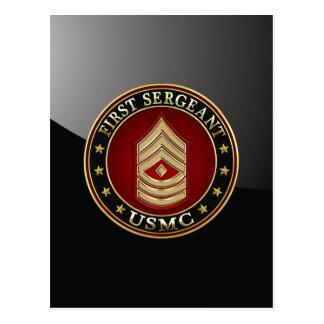 Carte Postale U.S. Marines : Premier sergent (usmc 1stSgt) [3D]