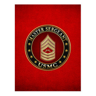 Carte Postale U.S. Marines : Sergent maître (usmc MSgt) [3D]