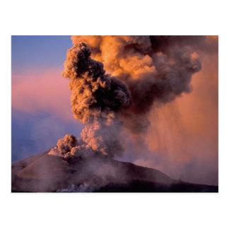 Carte Postale UE, Italie, Sicile, conduit de sommet du mont Etna