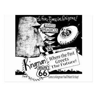 Carte Postale UFO d'alien de l'itinéraire 66 de Giganticus