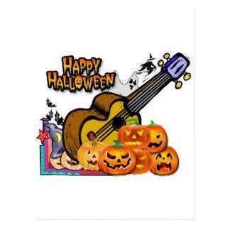 Carte Postale Ukulélé de Halloween
