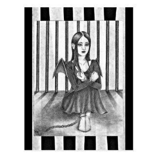 Carte Postale Un ange emprisonné