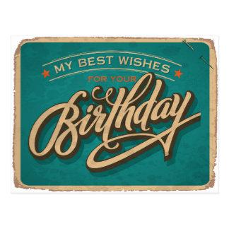 Carte Postale Un anniversaire bleu