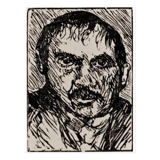 Carte Postale Un autoportrait de l'artiste Lovis Corinthe. 1920
