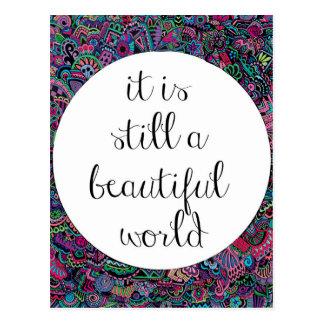Carte Postale Un beau monde