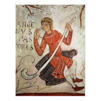 Carte Postale Un berger jouant un flageolet