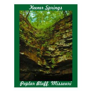 Carte Postale Un bluff plus désireux Missouri de peuplier de