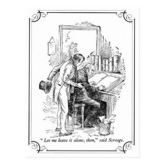 Carte Postale Un chant de Noël : Laissez-le seul