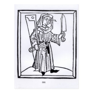 Carte Postale Un charpentier